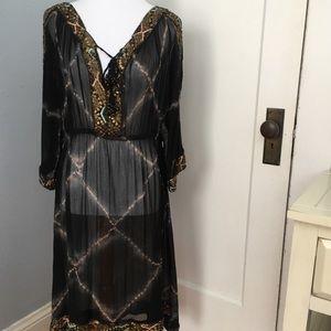 Calypso Silk Beaded Dress